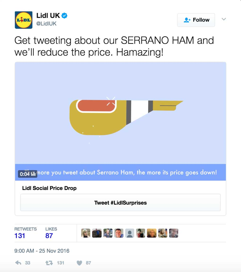 lidl uk invites shoppers to tweet prices down at christmas - twitter